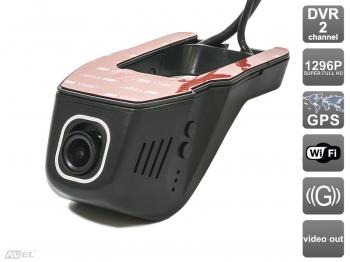 Универсальный двухканальный автомобильный Ultra HD (1296P) видеорегистратор AVS400DVR (#106 Universal) с GPS