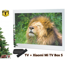 Smart Ultra HD (4K) LED телевизор в зеркале AVS755SM (Magic Mirror) + Xiaomi Mi TV Box S